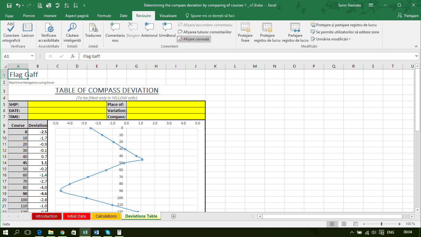 Determining the compass deviation by comparing of courses-1 _ v1.0